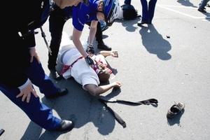 La televisión dijo inicialmente que hubo 14 bajas, dos de ellas fatales.