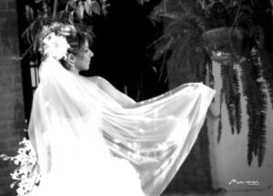 Srita. Ivett Morán Olague, el día de su boda con el Sr. César Márquez Hernández.  Estudio Morán
