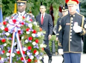 El presidente afirmó, que la disposición de los fallecidos en acto de servicio a entregar su vida por personas que nunca conocieron es lo que los convierte 'en lo mejor de Estados Unidos'.