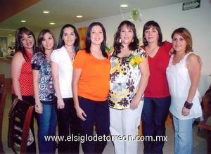 05062009 Liz de Huerta, Paloma de Corrales, Chelis de Luciano, Margarita de Nava, Érika Yarahuán de Nava, Meme García y Gaby de Rojas.