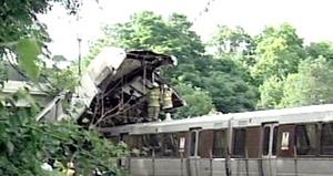 El accidente de los dos trenes ocurrió en el vecino estado de Maryland en un punto en el que los convoyes circulan por el exterior, antes de entrar en la red subterránea.