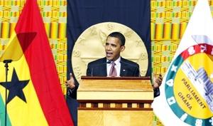 Obama, elogió y regañó al continente de sus antecesores al afirmar que las fuerzas de la tiranía y la corrupción deben ceder si Africa ha de encontrar un futuro mejor.
