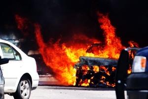 La vocera de la SSP, Verónica Peñuñuri, dijo que se presume que una de las granadas que llevaban los agresores se detonó cuando estaban dentro del vehículo, lo cual provocó que se incendiara y murieran calcinados.