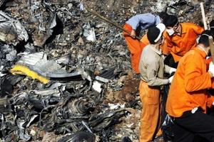 16 minutos después del despegue el aeroplano se precipitó, por causas aún desconocidas, cerca de la aldea Jannat-abad, donde produjo un cráter de 10 metros de diámetro y quedó destrozado en pequeños pedazos tras haberse incendiado.