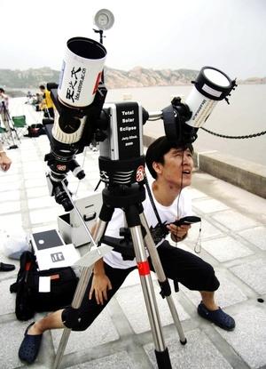 El eclipse despertó la euforia de los espectadores y amantes de la astronomía.