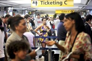 Los retrasos también afectaron a los vuelos en todo Estados Unidos.