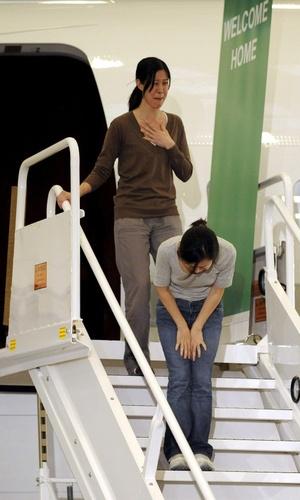 Las dos mujeres estuvieron presas durante más de cuatro meses en Corea del Norte.