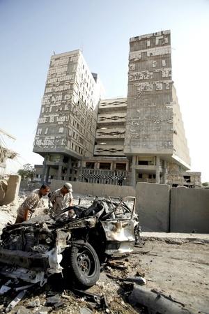 La cadena de atentados con carros bomba y cohetes de mortero perpetrados contra blancos gubernamentales en Bagdad ha dejado hasta ahora 95 muertos, 563 heridos, unos 50 vehículos destruidos y numerosos daños materiales.