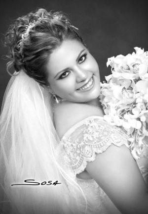 I.Q. Diana Cristina Reyes Cepeda el día de su boda con el I.B.Q. Jesús Gerardo AyabarMartínez.- Studio Sosa