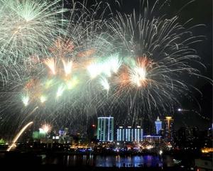 La cuidadosa ceremonia que conmemora la fundación de la República Popular China fue transmitida por la televisión a nivel nacional.
