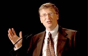 Bill Gates, el hombre más rico y dueño de Microsoft, es el poderoso número 10.