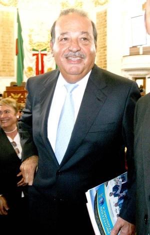 Carlos Slim, dueño de grupo Carso y considerado el tercer hombre más rico.