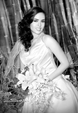 Radiante lució la Srita. Marisol Breceda Torres el día de su boda con el Sr. Ricardo Daniel Leal Martínez.  Studio Sosa