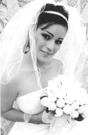 Srita. Jéssica Yazmín Jiménez Guerrero, captada el día de su boda con el Sr. Francisco Javier García Salazar.