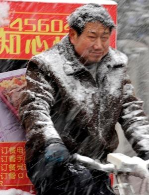 El frío siberiano, por debajo de los -16 grados, continuaba en el norte de China.