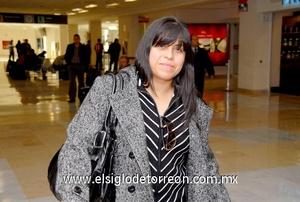 01022010 Nueva York. Maite Vázquez llegó de visita a Torreón.