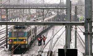 Los servicios de trenes en Europa Occidental sufrieron interrupciones.
