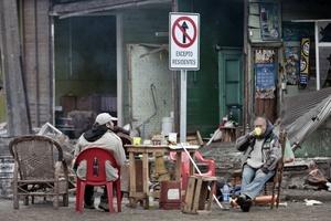Residentes  afectados de Talcahuano Chile