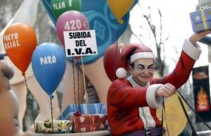 José Luis Rodríguez Zapatero presidente de España como Papá Noel.