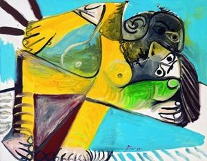 La pareja (1969), perteneciente a la época expresionista del pintor malagueño Pablo Picasso, forma parte de la exposición La pintura me dice algo, que reúne 100 pinturas, esculturas y fotografías de la colección del mismo nombre, que se muestra en el Museo Frieder Burda de la localidad alemana de Baden-Baden (Alemania)