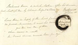 Una carta firmada y un mechón de pelo de Simón Bolívar que fueron vendidos en Londres, en el marco de la subasta de la colección privada de la viuda de un militar británico que combatió junto al libertador americano. La colección, que ofrece interesante información sobre la vida más íntima del héroe de las independencias sudamericanas a través de numerosos documentos y cartas, fue adquirida por un comprador anónimo por 30,000 libras.