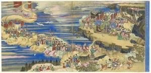 La exposición 'La voie du Tao. Un autre chemin de l'être' (La vía del Tao. Otro camino del ser), la primera en Europa dedicada al taoísmo, abrirá sus puertas mañana en el Grand Palais de París, integrada por cerca de 250 piezas, muchas de ellas inéditas, que podrán contemplarse hasta el próximo 5 de julio. En la imagen, 'Apoteosis de Xu Zhenjun', que forma parte de la muestra.