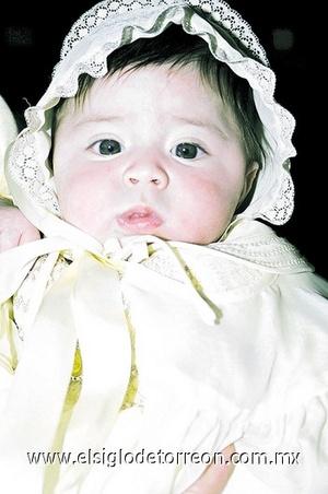 La pequeña Isabella Abdo Cruz.