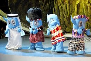 Las mascotas de la Expo Shangai 2010 dieron la bienvenida a todos los asistentes en China.