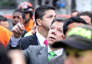 El Presidente Santos dijo que combatirá terrorismo con todo lo que esté a su alcance.