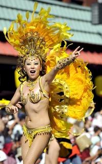 Más de cuatro mil 500 personas han participado en el XXX Festival de Samba anual.
