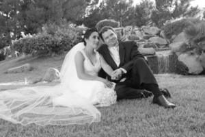 Lourdes Gallegos Vera y Peter Burger el día de su enlace nupcial.