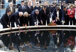 Este acto se celebró en el parque Zucotti, junto al solar donde se edifica el nuevo WTC.