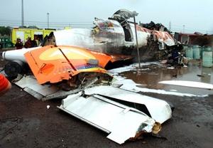 La aeronave se precipitó a tierra en una zona de almacenamiento de la Siderúrgica del Orinoco.