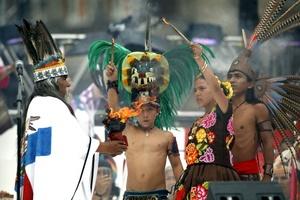 Las actividades comenzaron con el ritual del Fuego Nuevo, una costumbre arraigada en la tradición prehispánica que tenía como propósito dar paso a un nuevo ciclo de renovación y crecimiento.