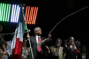 Andrés Manuel López Obrador, dió el Grito de Independencia en la Plaza de las Tres Culturas en Tlatelolco.