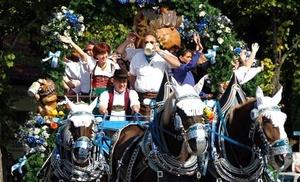 La ciudad también estableció un área especial con una exhibición sobre la historia de la Oktoberfest