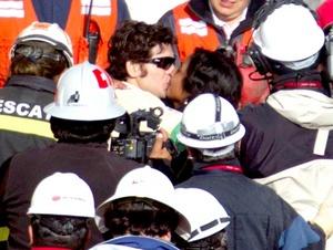 El décimo minero rescatado Alex Vega, mecánico de 31 años.