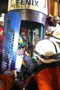 El minero Jose Ojeda a su rescate de la mina en Chile.