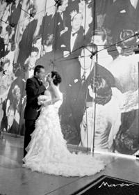 Marcela Garza Carranza el día que unió su vida a la de Luis Gonzaga Salazar Rodela. <p> <i> Estudio Morán </i>