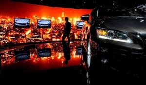 Automóviles Lexus en el Salón Internacional del Automovil de Los Ángeles, Estados Unidos.