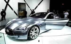 El auto Infiniti Essence Concept es exhibido en el Salón del Automóvil de Los Ángeles, California.