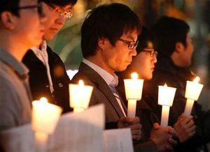 Surcoreanos realizaron un minuto de silencio tras el ataque a la isla Yeonpyeong.