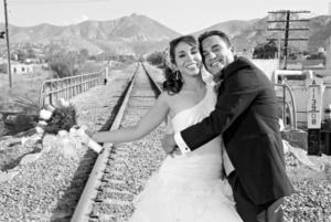 L.A. Ekaterine Peña Nava y L.A. Heriberto Soto Caldera el día que unieron sus vidas. <p> <i>Estudio Morán</i>