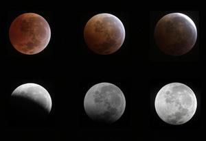 Los aficionados a la observación de la bóveda celeste tuvieron la madrugada del martes un regalo de Navidad adelantado: un eclipse lunar total en el que la Luna cambió lentamente su acostumbrado color plateado por un rojo encendido.
