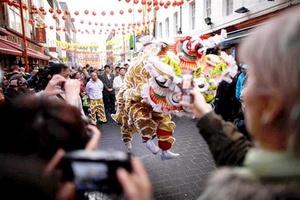 La comunidad china en Londres celebró la llegada del año del conejo.