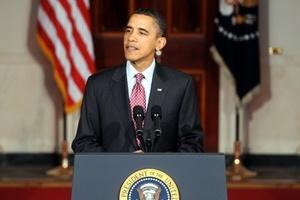 El presidente de Estados Unidos, Barack Obama, saludó la dimisión del mandatario egipcio Hosni Mubarak y calificó de inspirador el movimiento popular que ha llevado al país árabe a este punto con la fuerza moral de la no violencia.