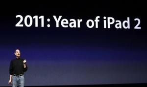 'No nos hemos dormido en nuestros laureles. El día de hoy presentamos la iPad 2', dijo el directivo.