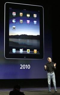 La música de los Beatles aminizó la velada de presentación de la nueva versión de la tableta de Apple.