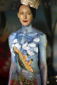 'Bodypainting', el arte de colorear el cuerpo.