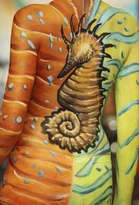 Una variedad de colores, el arte de decorar al cuerpo.